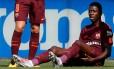 Ousmane Dembélé se lesionou no sábado, em partida contra o Getafe Foto: PAUL HANNA / REUTERS