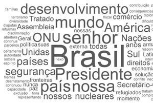 As palavras mais citadas no discurso de Temer na ONU Foto: Arte/O GLOBO
