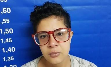 Jéssica: presa pela polícia e acusada pela morte do pai Foto: Divulgação / Polícia Civil
