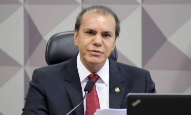 O presidente da CPI da JBS, senador Ataídes Oliveira (PSDB-TO) Foto: Agência Senado