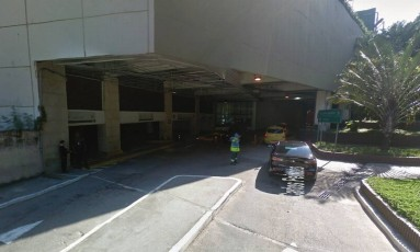 Criminosos fugiram em direção ao shopping Rio Sul Foto: Reprodução/Google Maps
