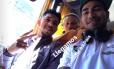 Sornoza registrou a chegada ao Equador ao lado de Wellington Silva e Douglas Foto: Reprodução/Instagram