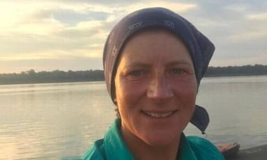 A canoísta britânica Emma Kelty, morta na Amazônia Foto: Reprodução/Twitter