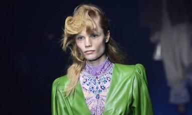 Gucci - verão 2018 Foto: MIGUEL MEDINA / AFP