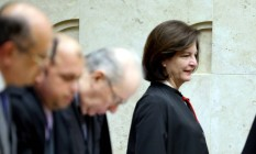 A nova procuradora-geral da República Raquel Dodge no plenário do Supremo Tribunal Federal Foto: Ailton de Freitas / O Globo