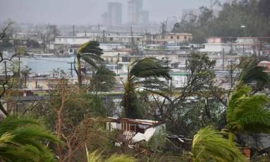 Furacão Maria deixa destruição em Porto Rico Foto: AFP