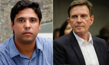 Thiago Barcellos e Marcello Crivella Foto: Agência O Globo