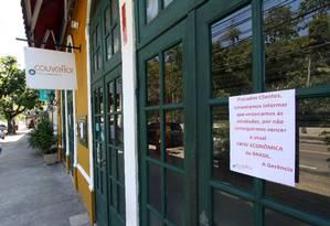 Restaurante Couve Flor, no Horto, fecha as portas por causa da crise econômica e a violência. Foto: Paulo Nicolella / Agência O Globo