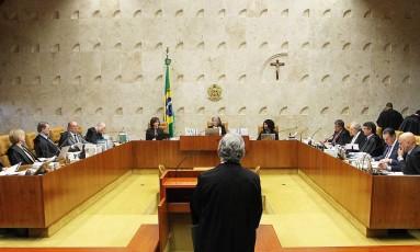 O plenário do Supremo Tribunal Federal (STF) durante análise sobre envio da denúncia contra Michel Temer à Câmara dos Deputados Foto: Ailton de Freitas / Agência O Globo / 20-9-17