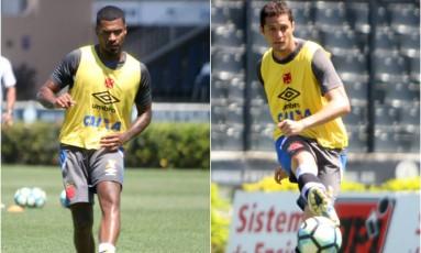 Breno e Anderson Martins, dupla de zaga do Vasco com Zé Ricardo Foto: Paulo Fernandes/Vasco
