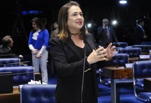 A senadora Kátia Abreu (PMDB-TO), em pronunciamento no Senado Foto: Waldemir Barreto/Agência Senado/12-09-2017