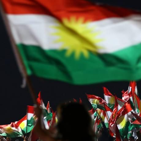 Curdos participam de evento sobre referendo, em Irbil Foto: SAFIN HAMED / AFP