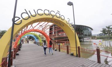 Educação 360 acontece na Escola Sesc de Ensino Médio, na Zona Oeste do Rio Foto: Gustavo Azeredo / Agência O Globo