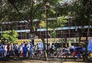 Pacientes e funcionários do hospital Durango deixaram edifício após terremoto na Cidade do México Foto: Instagram/Reprodução