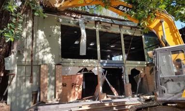 Prédio onde funcionava boate é demolido na Barra Foto: Divulgação / Prefeitura do Rio