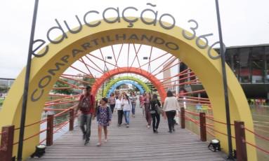 O Educação 360 acontece na Escola Sesc de Ensino Médio, em Jacarepaguá Foto: Gustavo Azeredo / Agência O Globo
