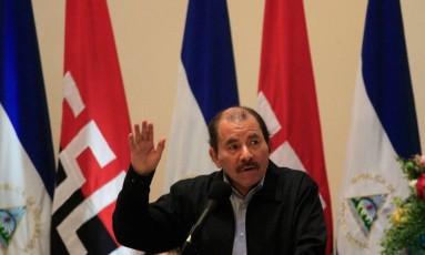 O presidente da Nicarágua, Daniel Ortega, ainda é cético em relação à eficácia do acordo climático Foto: OSWALDO RIVAS / REUTERS