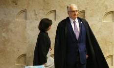 O ministro Edson Fachin e a procuradora-geral da República, Raquel Dodge Foto: Ailton de Freitas / Agência O Globo