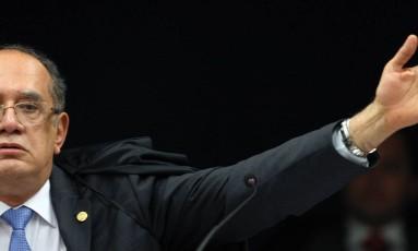 O ministro Gilmar Mendes em sessão recente no STF: ironia à 'ditadura' do politicamente correto
