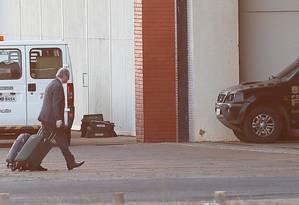 O ex-deputado Federal Eduardo Cunha durante sua chegada no hangar da Policia Federal em Brasilia - 15/09/2017 Foto: Ailton de Freitas / Agência O Globo