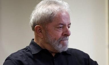O ex-presidente Lula, durante lançamento de site para receber propostas para programa de governo do PT Foto: Edilson Dantas / Agência O Globo (21/09/2017)
