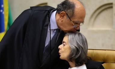 Gilmar Mendes e Cármem Lúcia Foto: Jorge William/Agência O Globo