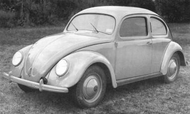 O primeiro lote de Fuscas só chegou ao Brasil em 1950, mas em 1949 ele já ilustrava as páginas do Jornal Foto: Divulgação