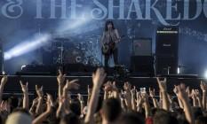 Tyler Bryant & The Shakedown no palco Sunset.. Foto: Alexandre Cassiano / Agência O Globo