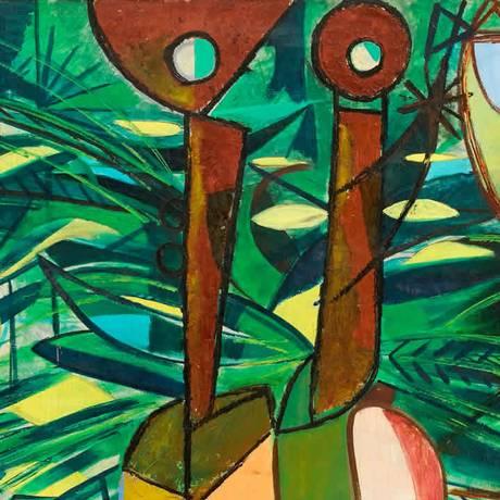 Obra de Cícero Dias em exposição no CCBB Foto: Divulgação