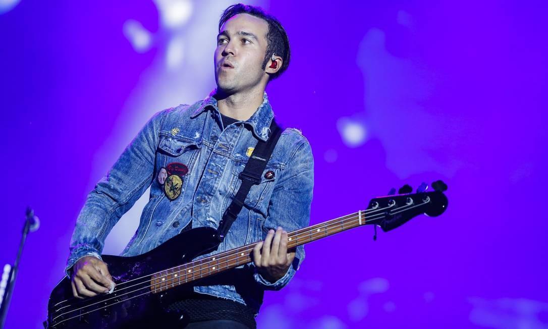O baixista do Fall Out Boy, Pete Wentz Foto: Agência O Globo