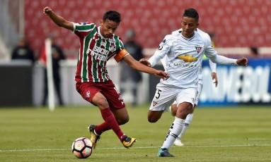 Gustavo Scarpa foi decisivo para a classificação do Fluminense Foto: RODRIGO BUENDIA / AFP