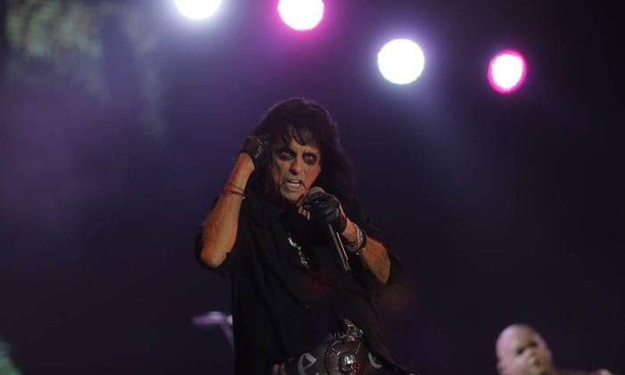 Alice Cooper no palco Sunset Foto: Antonio Scorza / Agência O Globo