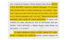 Trecho da denúncia da PGR contra Dilma Rousseff Foto: Reprodução