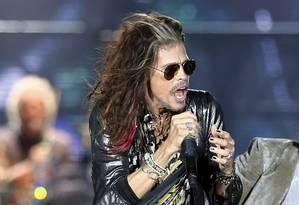 Steven Tyler durante show do Aerosmith no Rock in Rio Foto: Agência O Globo