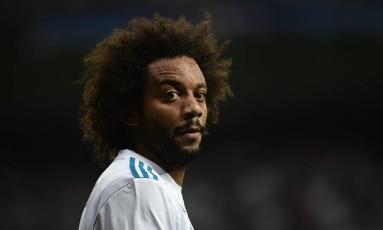 Marcelo desfalcará Real Madrid e seleção Foto: PIERRE-PHILIPPE MARCOU / AFP