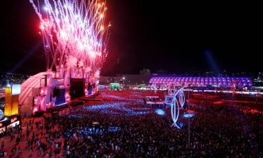 O palco Mundo da Cidade do Rock Foto: Fabiano Rocha / Agência O Globo