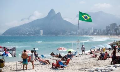 Praia do Arpoador, em Ipanema Foto: Brenno Carvalho / Agência O Globo