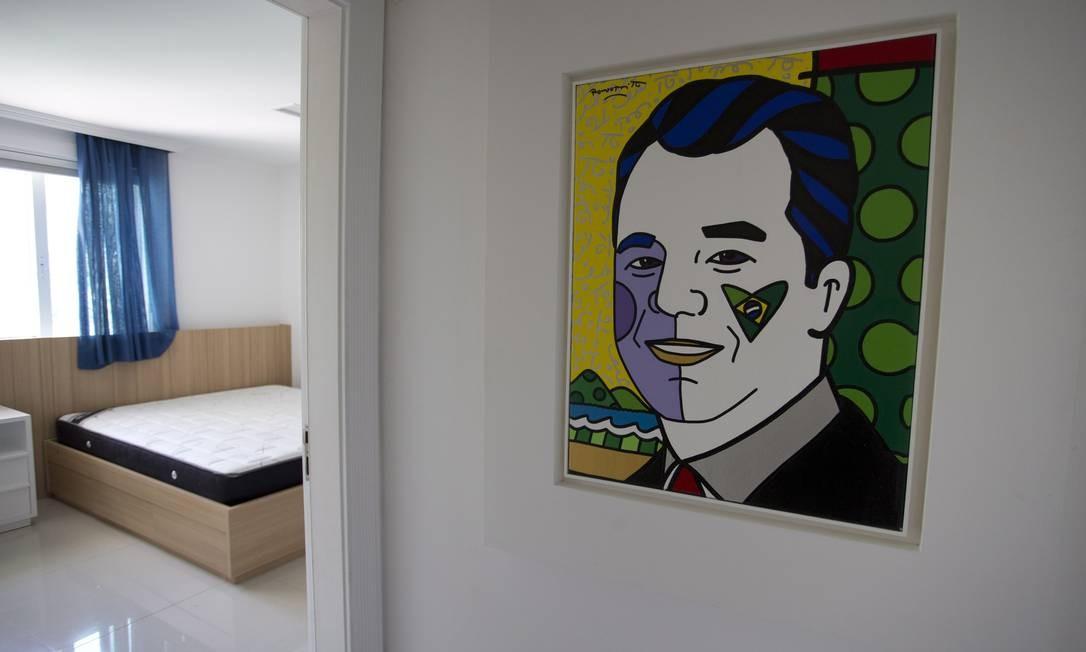 Casa do ex-governador Sérgio Cabral, tem quadros do artista Romero Britto Márcia Foletto / O Globo