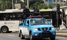 Carro da Polícia Militar na Zona Sul do Rio Foto: Paulo Nicolella / Agência O Globo