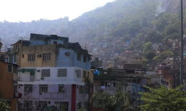 Rocinha: invasão por traficantes armados no último domingo Foto: Fabiano Rocha / Agência O Globo