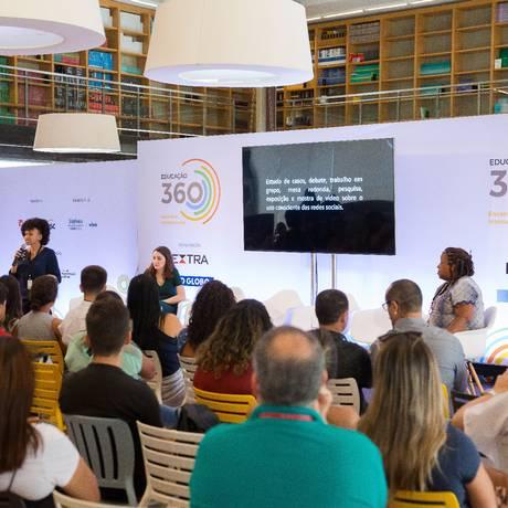 Na foto, mesa que discutiu a diversidade, parte do Educação 360 Foto: Andre Lima / Agência O Globo