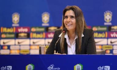 Emily Lima foi demitida do comando da seleção brasileira feminina de futebol Foto: Kin Saito / CBF