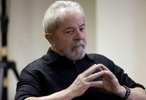 O ex-presidente Lula durante o lançamento de um site para receber propostas para