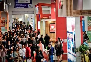 Investidores procuram oportunidades na Feira ABF Franchising Expo Foto: Fabio Castro / Divulgação
