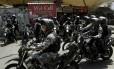 Batalhão de Choque da PM faz operação na Rocinha Foto: Gabriel de Paiva / Agência O Globo
