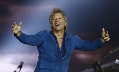 Bon Jovi cantou clássicos e músicas novas no Rock in Rio Foto: PABLO JACOB / O Globo