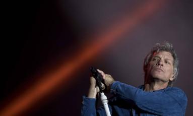 Bon Jovi fecha a noite do dia 23 no Rock in Rio 2017 Foto: MAURO PIMENTEL / AFP