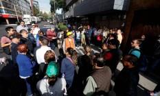 Moradores foram às ruas com medo do novo tremor no México Foto: EDGARD GARRIDO / REUTERS