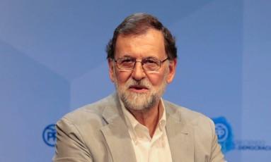 Mariano Rajoy discursou em Palma de Mallorca durante encontro do Partido Popular Foto: ENRIQUE CALVO / REUTERS