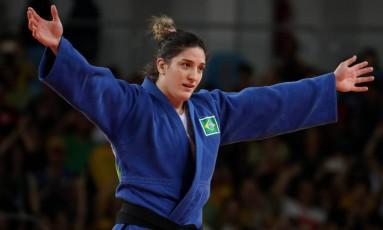 'Meu objetivo não é liderar o ranking, é vencer todas as lutas para chegar a Tóquio', diz Mayra Foto: Marcelo Carnaval / Agência O Globo
